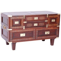 Anglo Indian Rosewood Inlaid Chest
