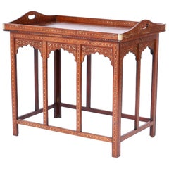 Anglo-Indian Rosewood Inlaid Tray Table