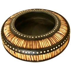 Anglo-Indian Round Porcupine Quill Box