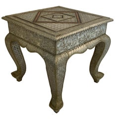 Anglo-Indian Silvered Wrapped Clad Side Low Table