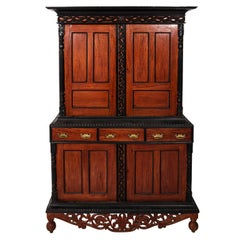 Anglo-Indian Style Satinwood and Ebony Cabinet