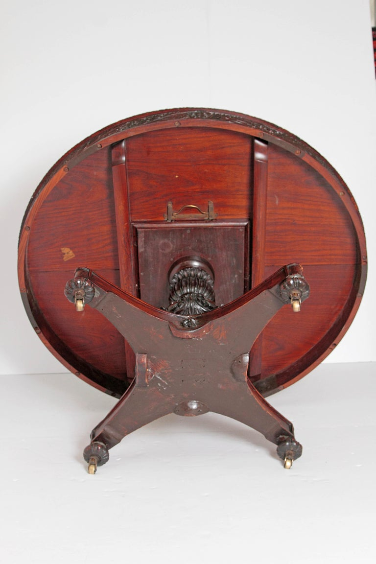 Anglo-Indian Tilt-Top or Centre Table of Mahogany For Sale 12