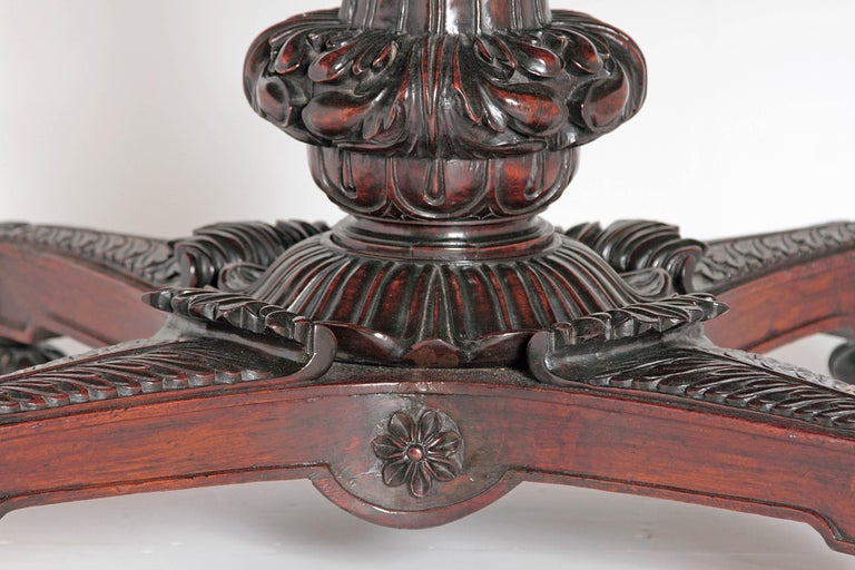 19th Century Anglo-Indian Tilt-Top or Centre Table of Mahogany For Sale