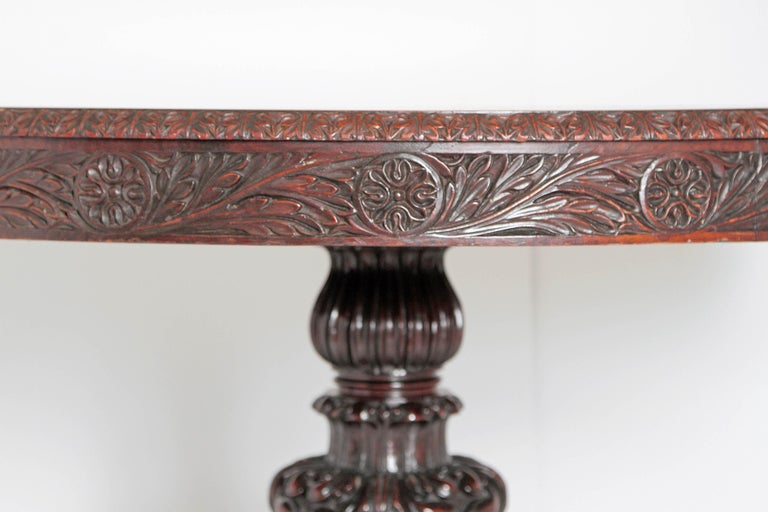 Anglo-Indian Tilt-Top or Centre Table of Mahogany For Sale 1
