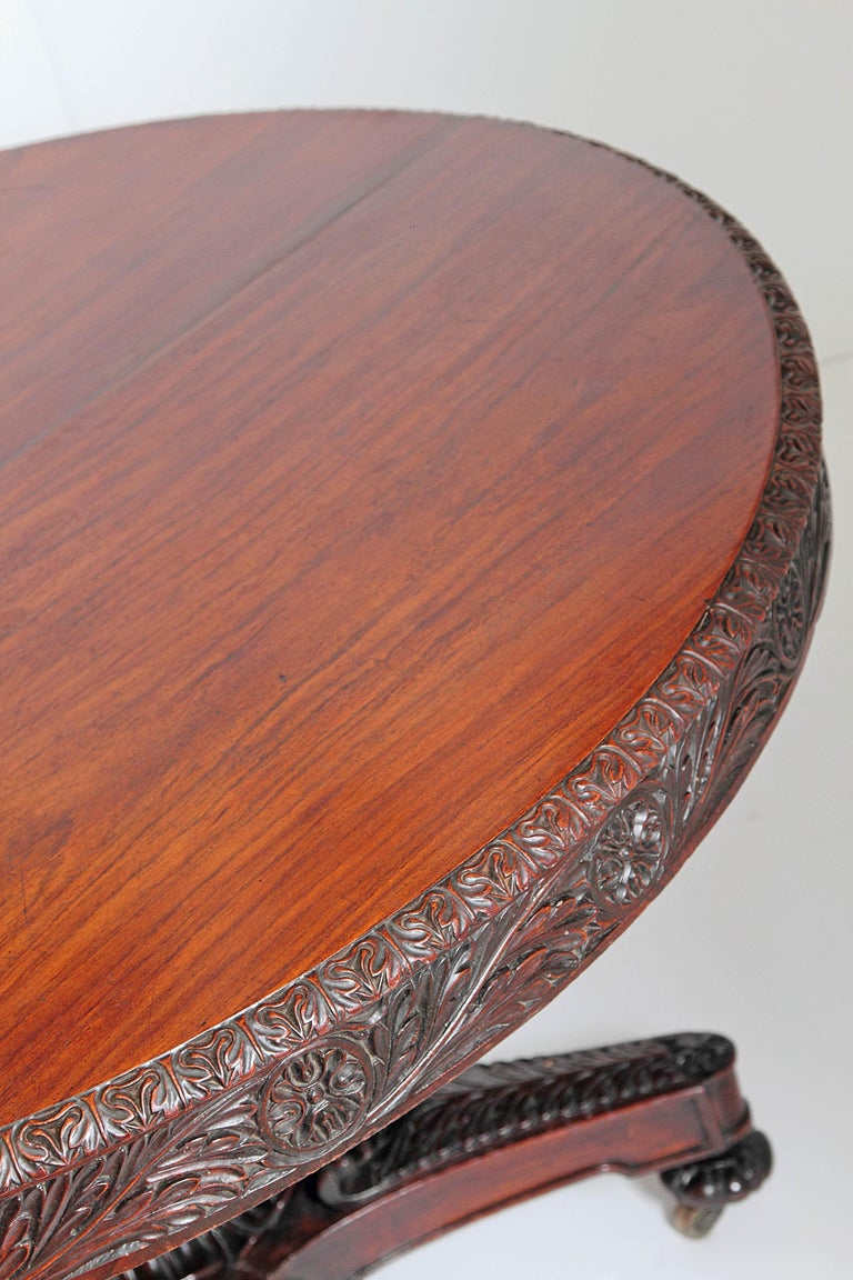 Anglo-Indian Tilt-Top or Centre Table of Mahogany For Sale 4