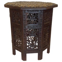 Anglo-Indian Travel Table / Tabouret