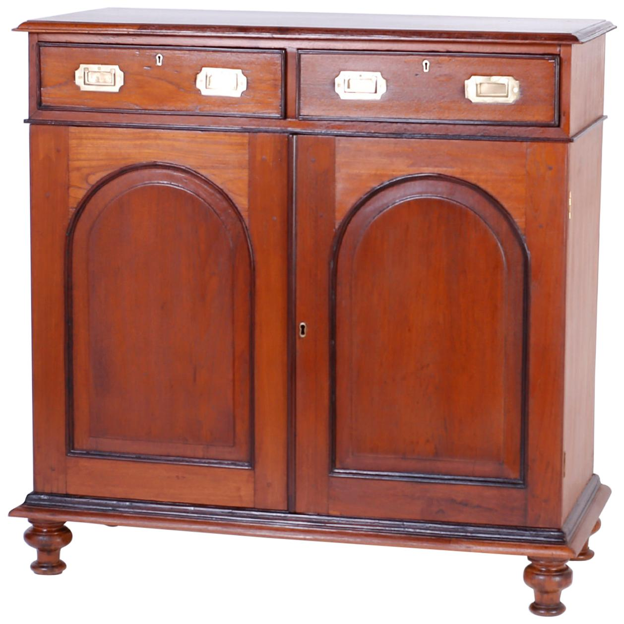 Anglo Indian Two-Door Cabinet or Sideboard