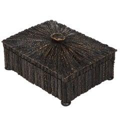 Anglo-Indian Vizagapatam Antler Horn Box