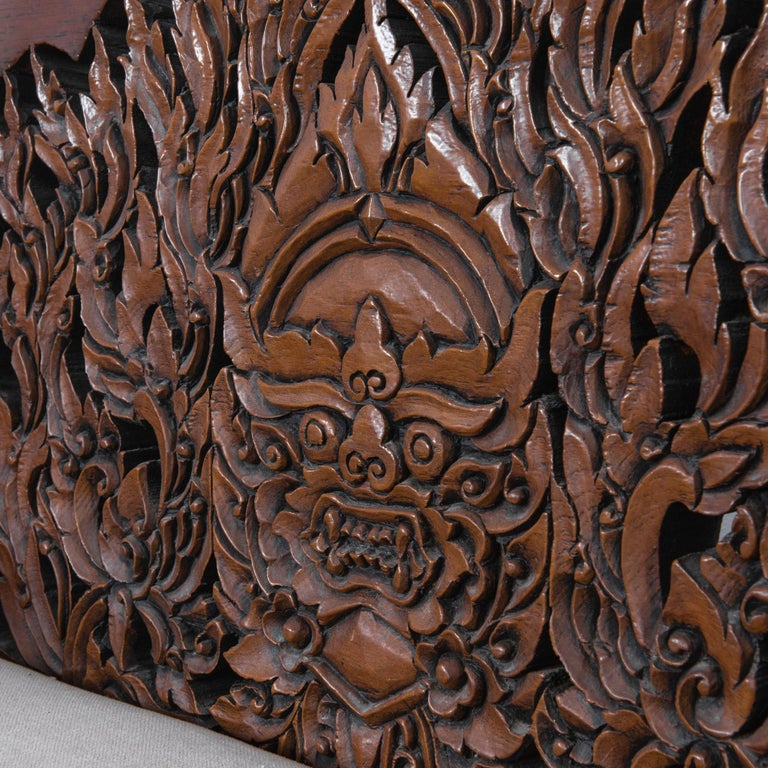 Early 20th Century Anglo Raj Carved Rosewood Sofa Set, Set of 4