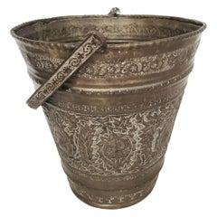 Anglo-Raj Mughal Bronzed Copper Vessel Bucket