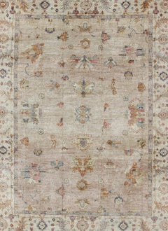 Angora Turkish Oushak Rug in Nude and
