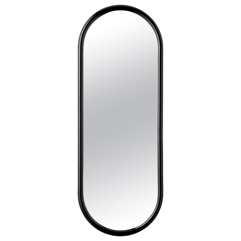 Angui Black Oval Large Mirror
