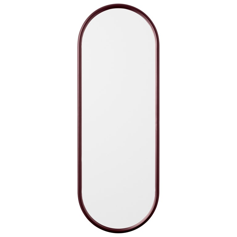 Angui Bordeauxoval large mirror by AYTM Dimensions: 39 x 2 x 108 cm Materials: Glass, copper and MDF  The Angui mirror with its simple pipe-styled frame is a beauty for any bathroom, hallway, or maybe bedroom. Use a single one or add several