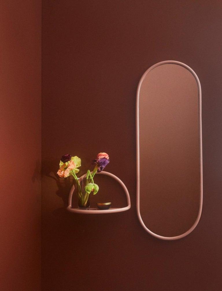 Danish Angui Bordeaux Oval Large Mirror For Sale