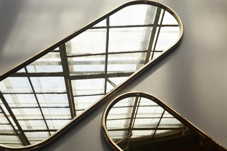 Angui Golden Oval Large Mirror For Sale 3