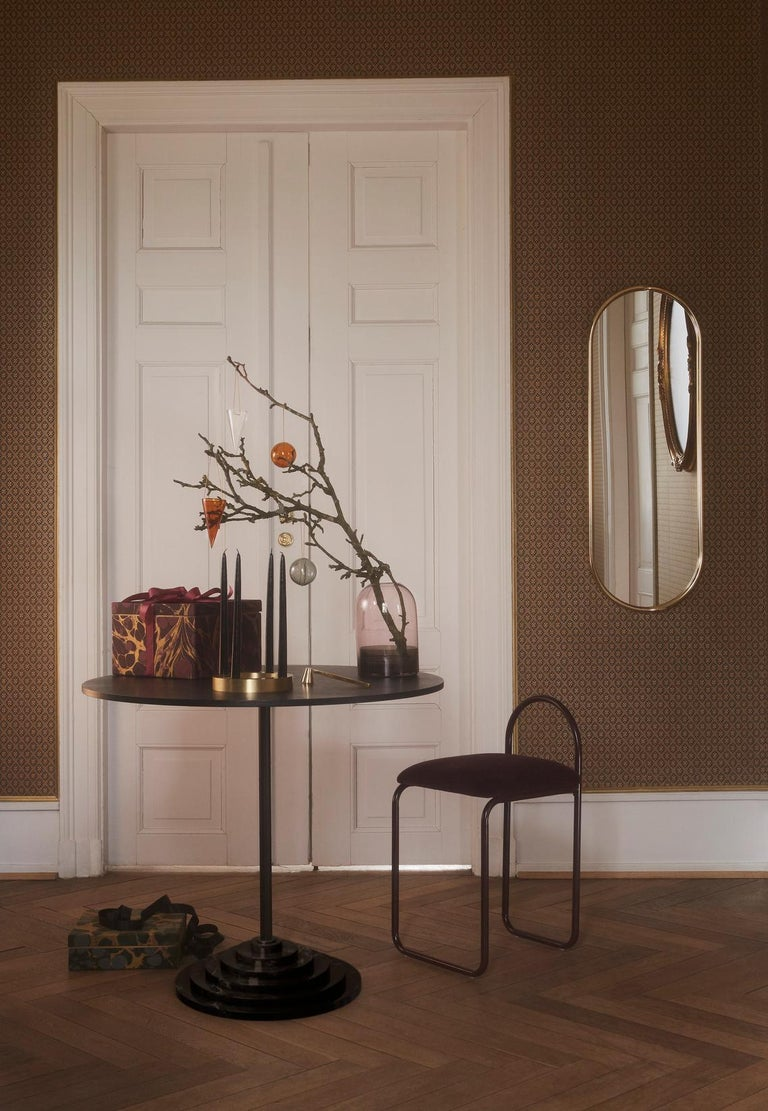 Copper Angui Golden Oval Large Mirror For Sale