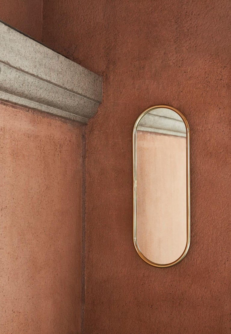 Angui Golden Oval Large Mirror For Sale 2