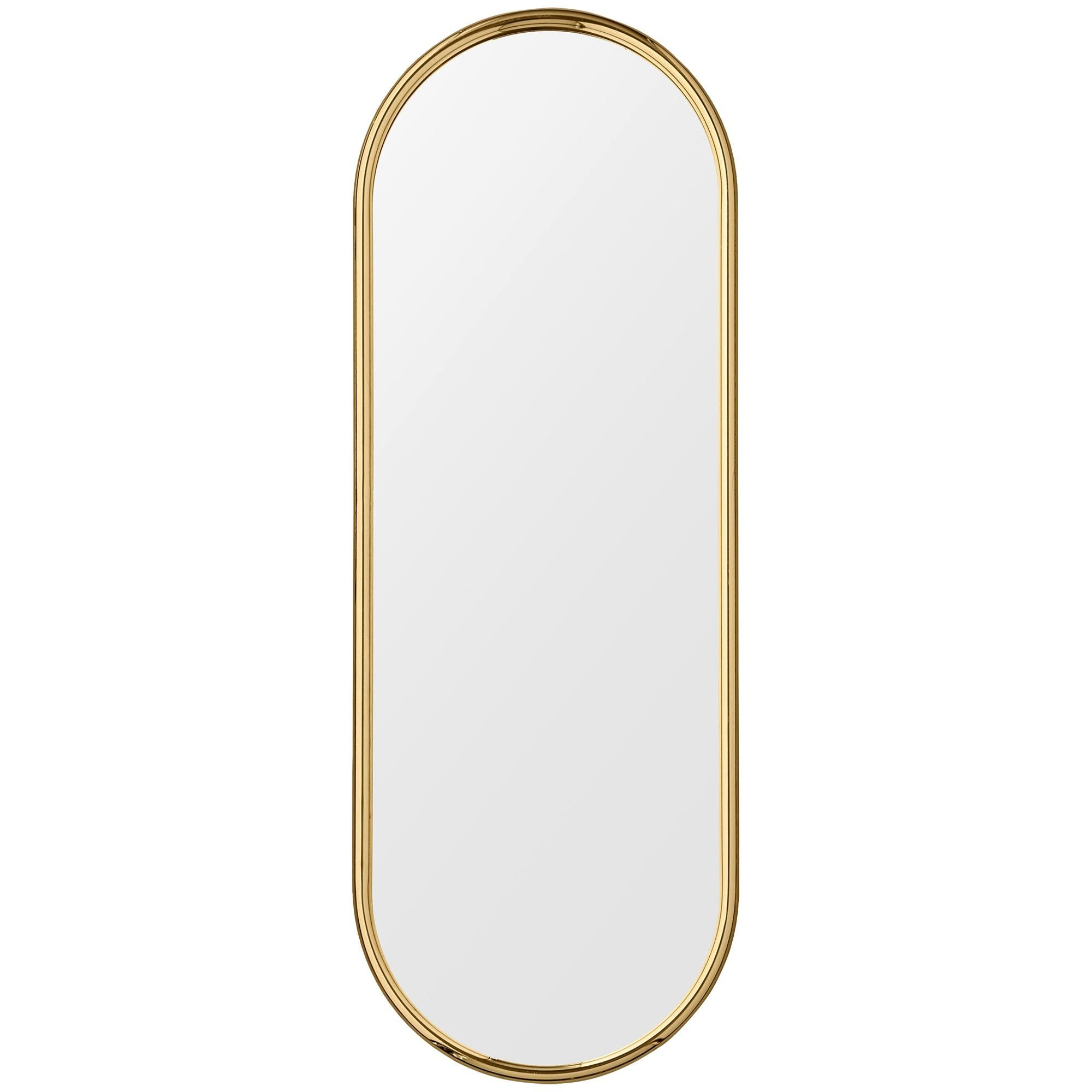 Angui Golden Oval Large Mirror