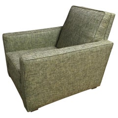 Angular Art Deco Upholstered Armchair