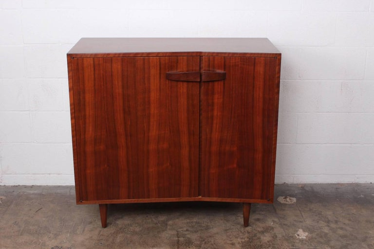 An angular cabinet designed by Bertha Schaefer for Singer and Sons.