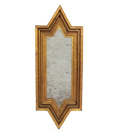 Angular Gilt Mirror