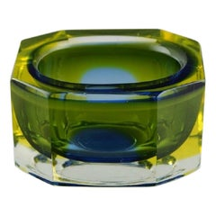 Angular Murano Bowl in Art Glass, Italian Design, 1960s