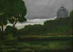 Antique Impressionist English Country Landscape 1945