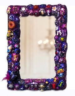 Contemporary Memory Jug Mirror Glitter Nostalgic Toys Purple Sparkly Ani Hoover