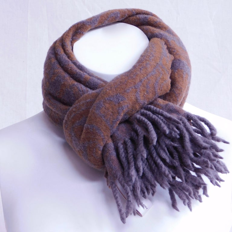 Gray Anichini Wool Scarf For Sale