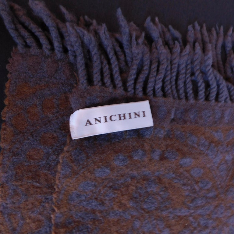 Anichini Wool Scarf In Good Condition For Sale In Antwerp, BE