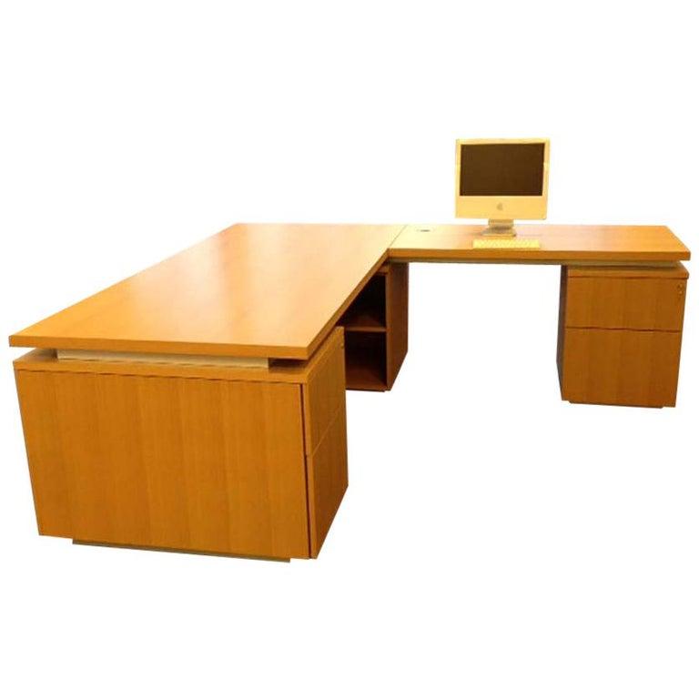 Anigre Wood Desk For Sale