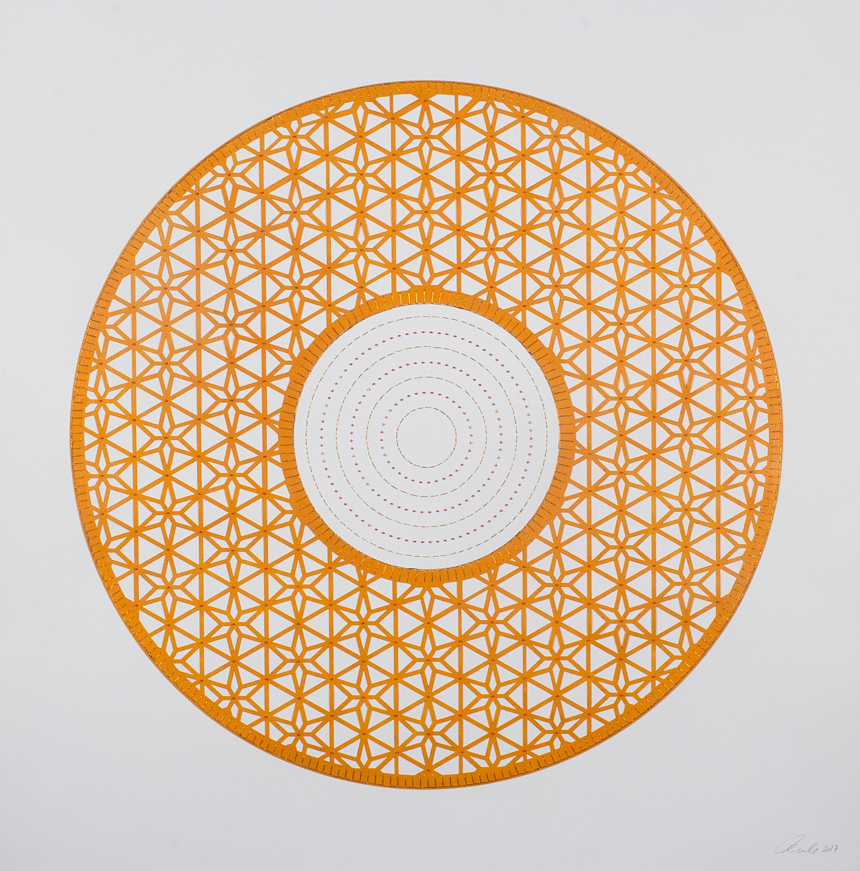 Flowers (Orange Circle)