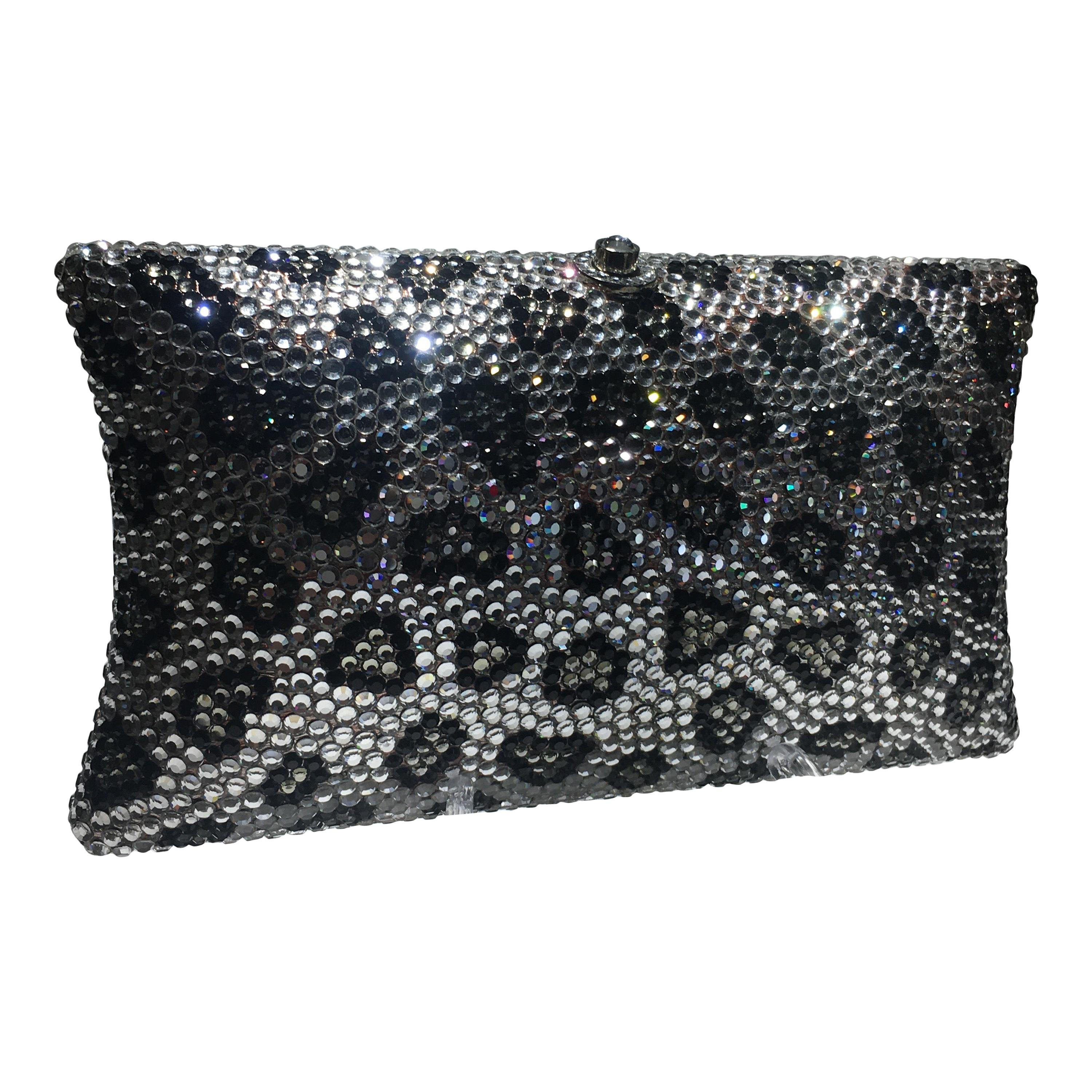 Animal Motif Crystal Clutch In The Style Of Judith Leiber, Great Condition.