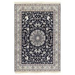 Animal Motif Vintage Nain Persian Rug