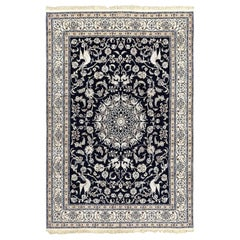 Animal Motif Vintage Nain Persian Rug. Size: 6 ft 7 in x 9 ft 6 in