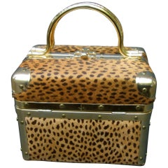 Animal Print Box Purse Designed by Lisette New York c 1980s