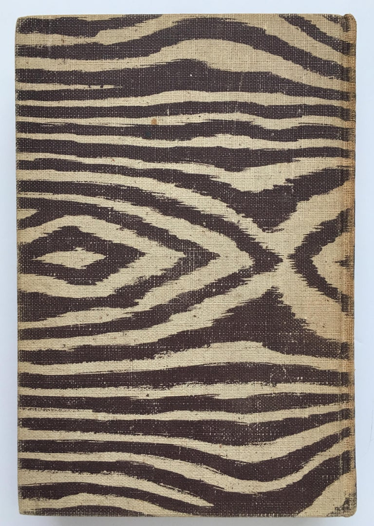 I Married Adventure by Osa Johnson, J.B. Lippincott Company, 1940. First edition. Hardcover, 376 pages. Zebra printed cover makes this book a designer coffee table accessory. Former owner's name written inside.