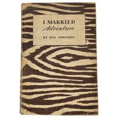 Animal Print Safari Book, I Married Adventure by Osa Johnson
