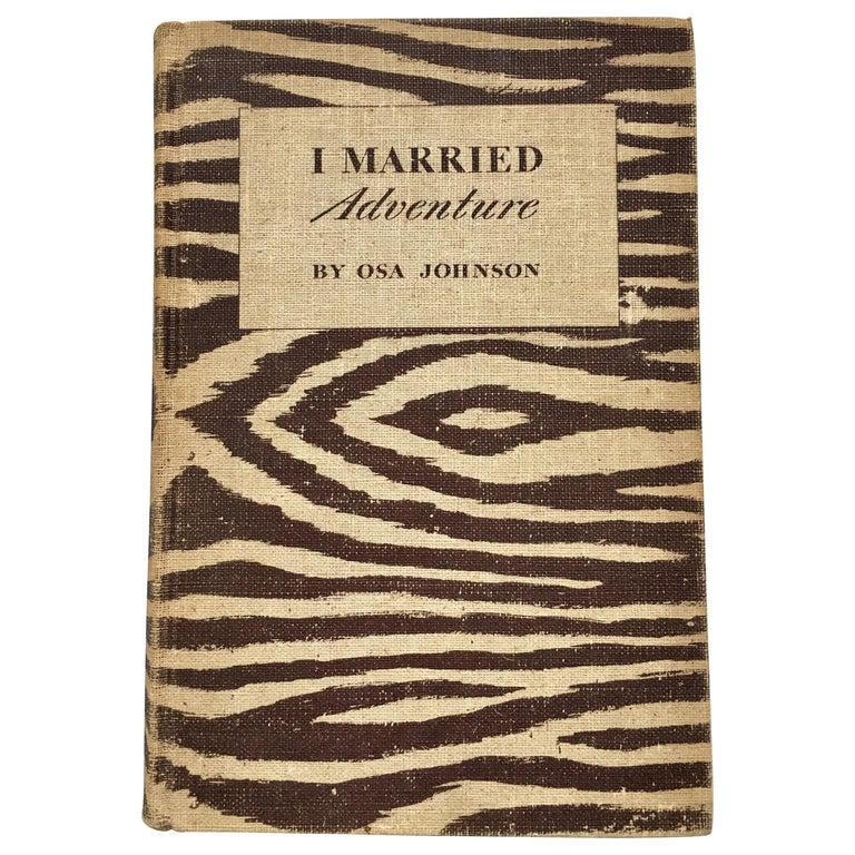 Animal Print Safari Book, I Married Adventure by Osa Johnson For Sale