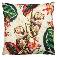 Animalia, Contemporary Linen Printed Pillow by Vito Nesta