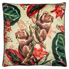 Animalia, Contemporary Velvet Printed Pillow by Vito Nesta