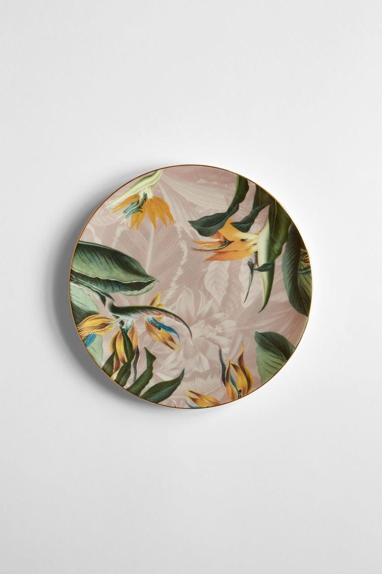 Animalia, Six Contemporary Porcelain Dinner Plates with Decorative Design For Sale 2