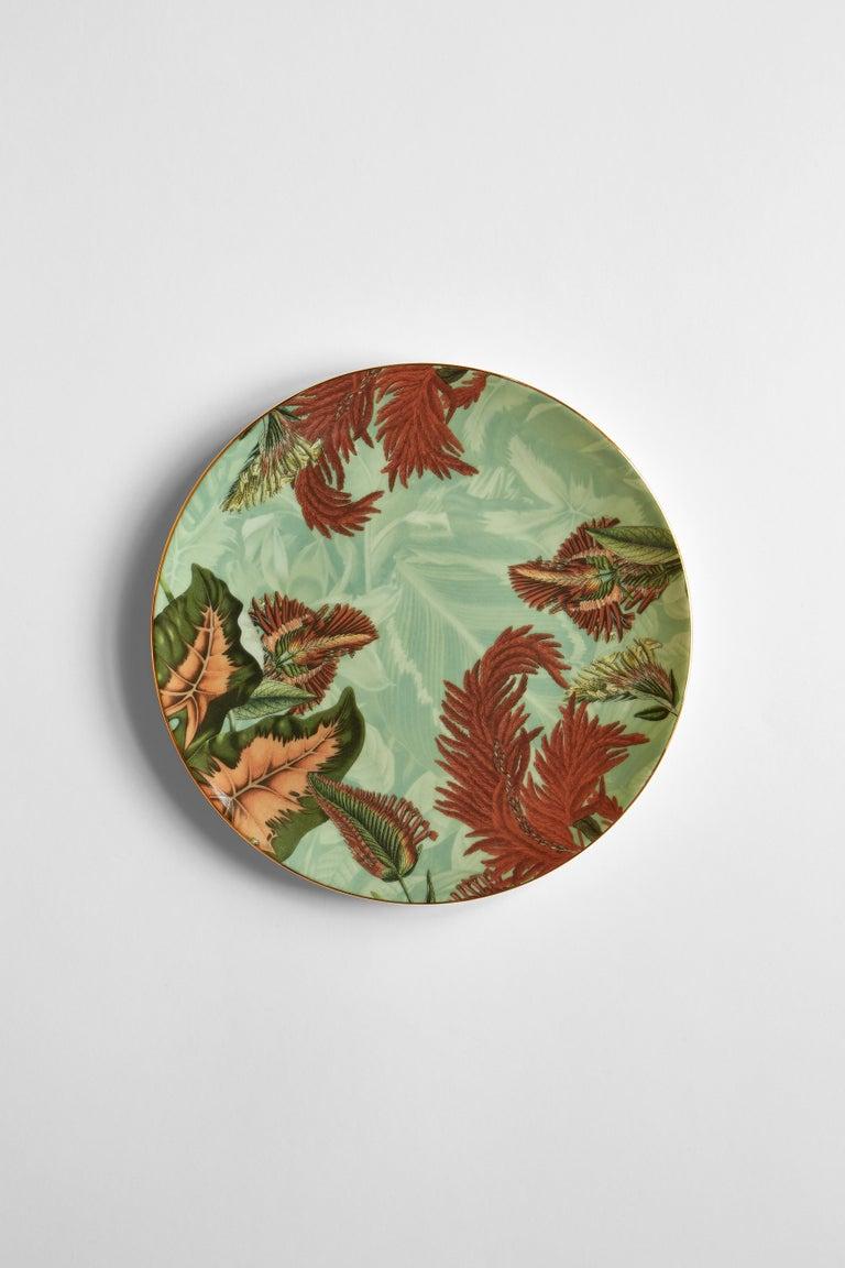 Animalia, Six Contemporary Porcelain Dinner Plates with Decorative Design For Sale 3