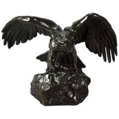 Animalier Bronze Study entitled 'Aigle Ailes Étendues' by Antoine L Barye