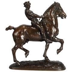 Animalier Bronze Study Entitled 'Cheval Monte Privé' by Emmanuel Fremiet