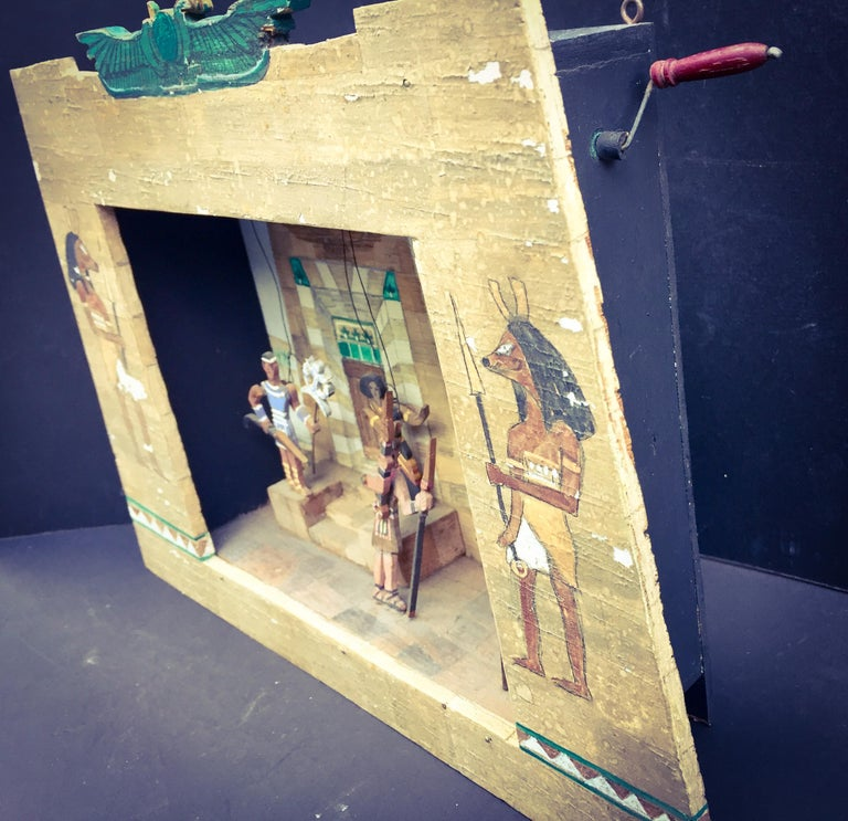American Automaton, Hand Cranked Miniature Signed Stage Model, Opera Aida, Hand-Painted  For Sale