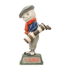 Antique Advertising Dunlop Man, Golf Figure, Point of Sale Advertising