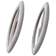 Anish Kapoor 18 Karat White Gold Torpedo Earrings, Large, 2010