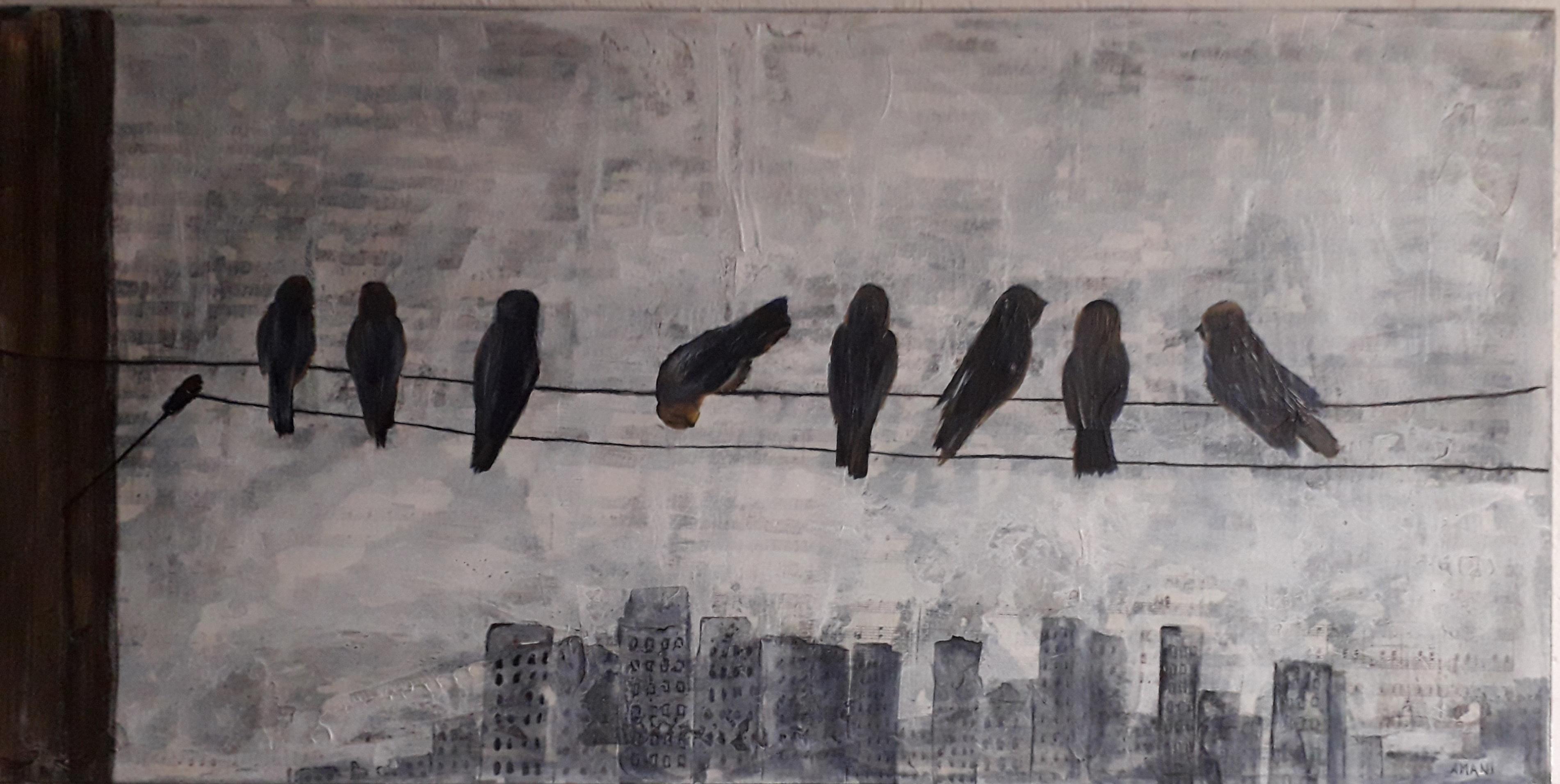 "Anita Amani Dorp - ""City Birds"" - timelessness & permanence nature art"