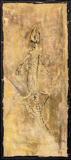 "Anita Amani Dorp - ""Fossils Lizard"" - timelessness & permanence nature art"